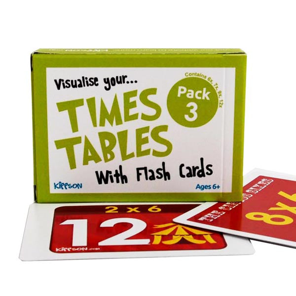 Visualise your Times Tables Flash cards Pack 3 Kippson