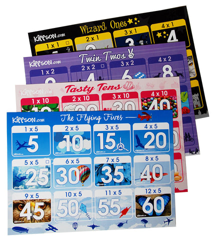 Times Tables Posters (1x, 2x, 5x, 10x) for KS1