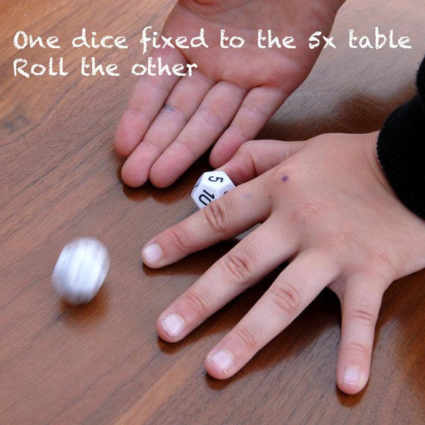 A Pair of 12 Sided Times Tables Dice