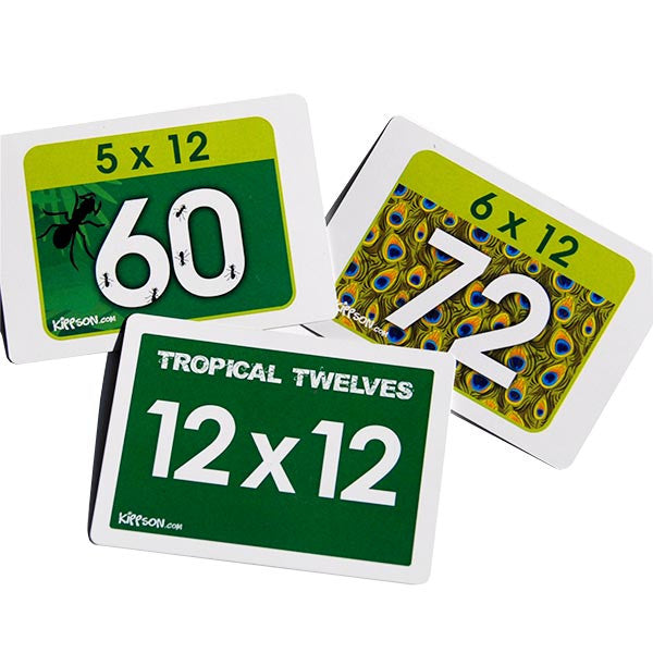 multiplication flash cards with pictures and theme 12x
