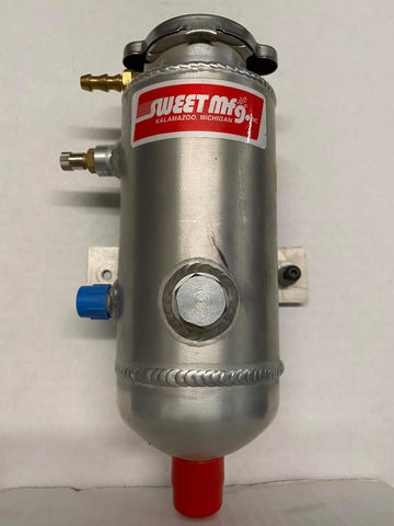 "Sweet Power Steering Pressure Tank - 7"" w/Tabs"