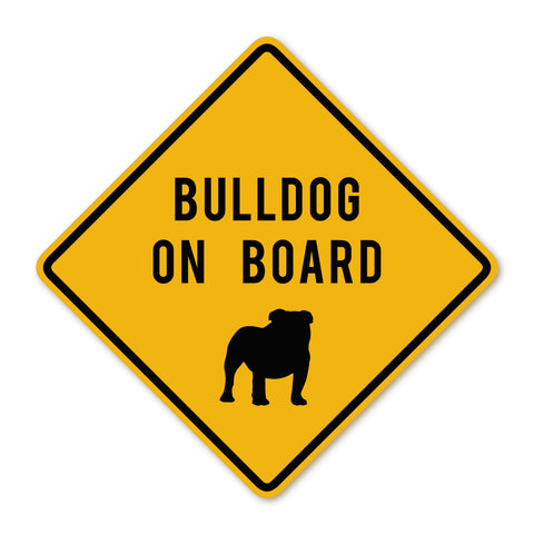 Bulldog on Board Decal