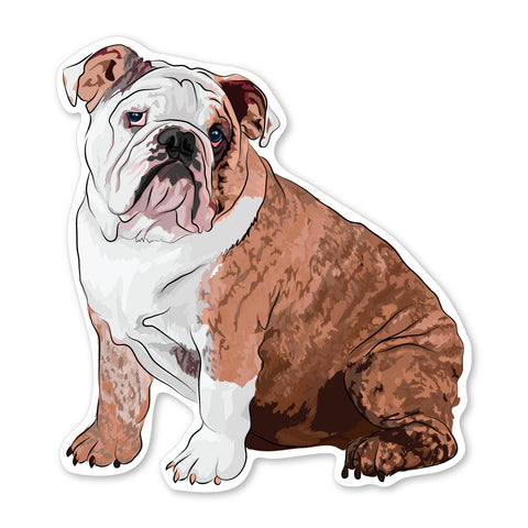 Hamilton the English Bulldog Decal