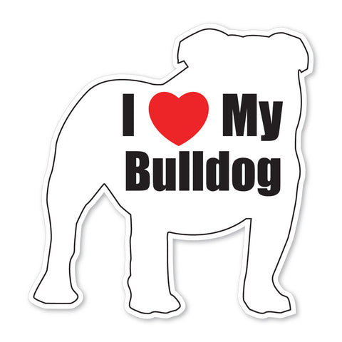 I love my Bulldog Decal
