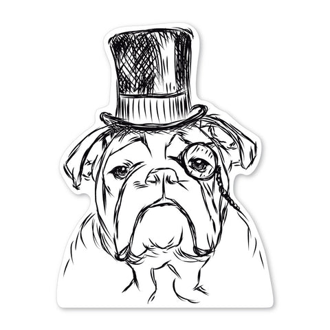 Winston the English Bulldog Decal