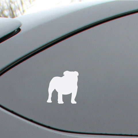 English Bulldog Silhouette Decal