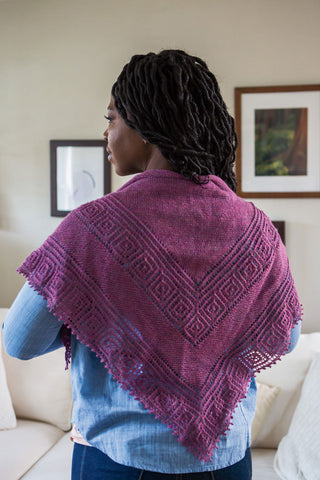 Drip Diamond Shawl