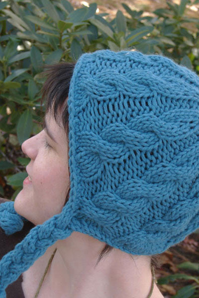 Cabled Earflap Hat
