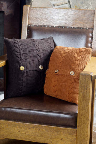 Garter Cable Pillows