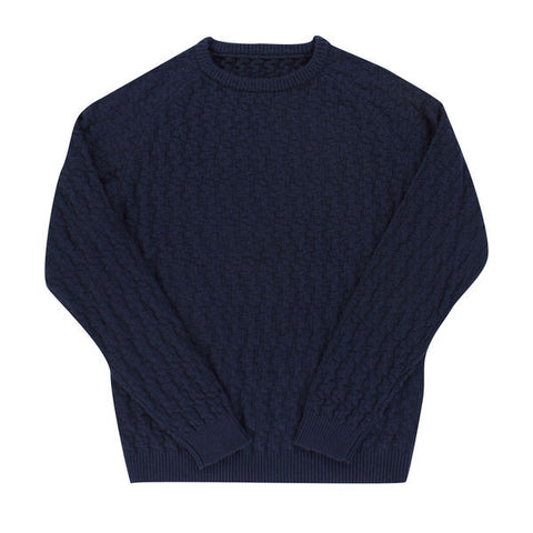 ALOHA SUNDAY RELIEF SWEATER NAVY