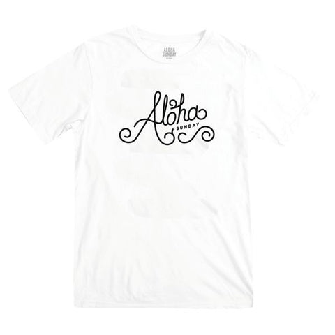 ALOHA SUNDAY CASTINGS TEE WHITE