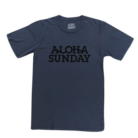 ALOHA SUNDAY SEISMIC TEE NAVY