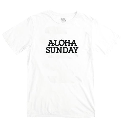 ALOHA SUNDAY SEISMIC TEE WHITE