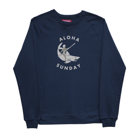 ALOHA SUNDAY SHARK RIDER SWEAT SHIRT
