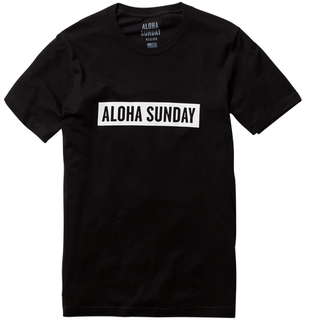 BUMPER WHITE PRINT - BLACK - ALOHA SUNDAY