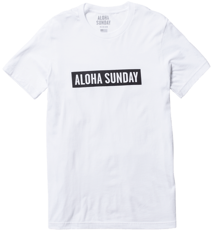 BUMPER BLACK PRINT - WHITE - ALOHA SUNDAY