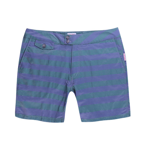 KAILUA SWIM SHORT - NAVY/PALM GREEN