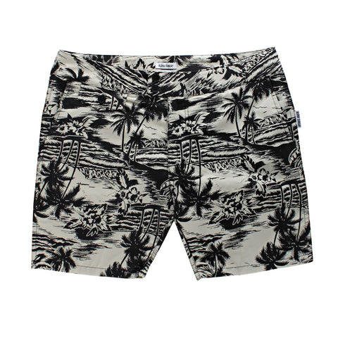 SEA LODGE SWIM SHORT - SAND / BLACK - ALOHA SUNDAY