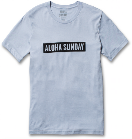 BUMPER BLACK - LIGHT BLUE - ALOHA SUNDAY