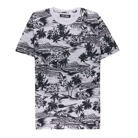 SEA LODGE T  - HEATHER GREY - ALOHA SUNDAY