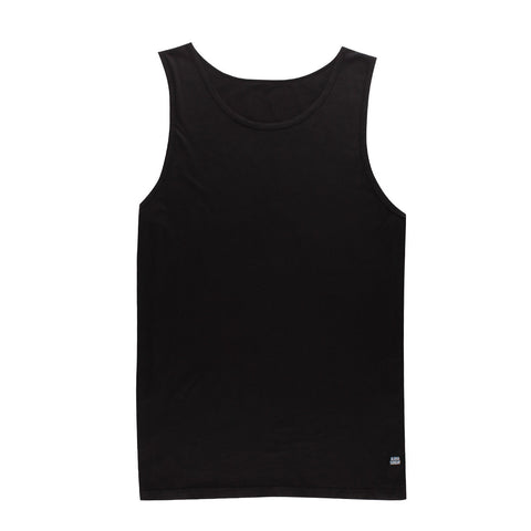 STAPLE TANK - BLACK - ALOHA SUNDAY