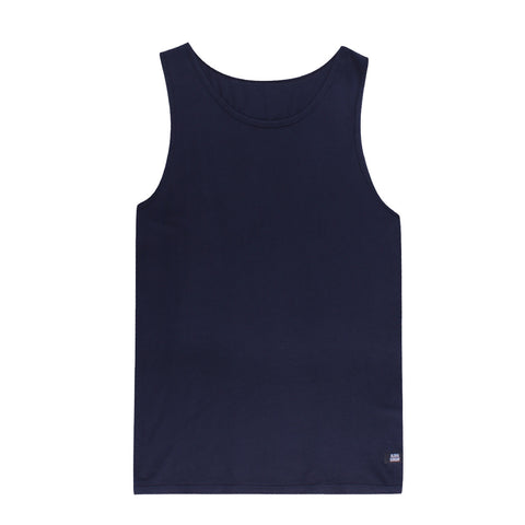 STAPLE TANK - NAVY - ALOHA SUNDAY