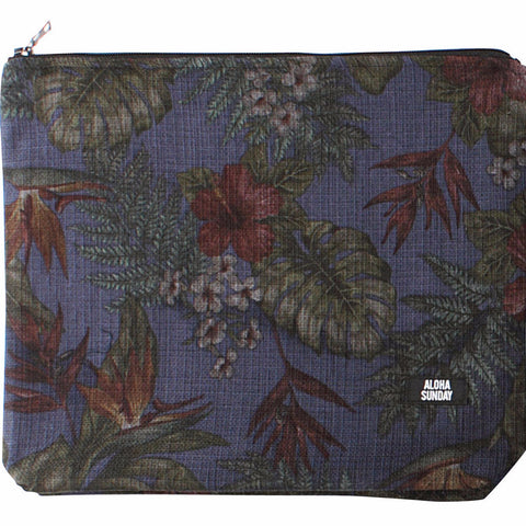 SATCHEL - TROPICAL NAVY