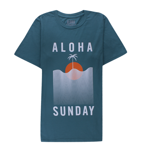 ALOHA SUNDAY - WATERLINE PALM GREEN