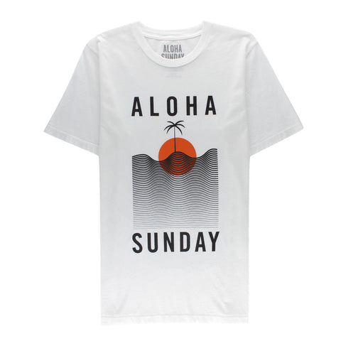 ALOHA SUNDAY WATERLINE TEE
