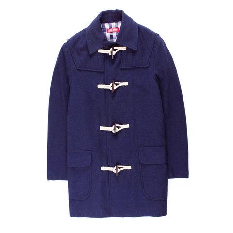 ALOHA SUNDAY NAVY DUFFLE COAT