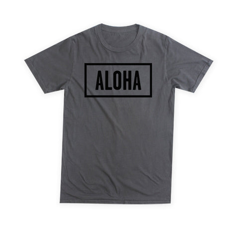 ALOHA SUNDAY CHARCOAL T-SHIRT