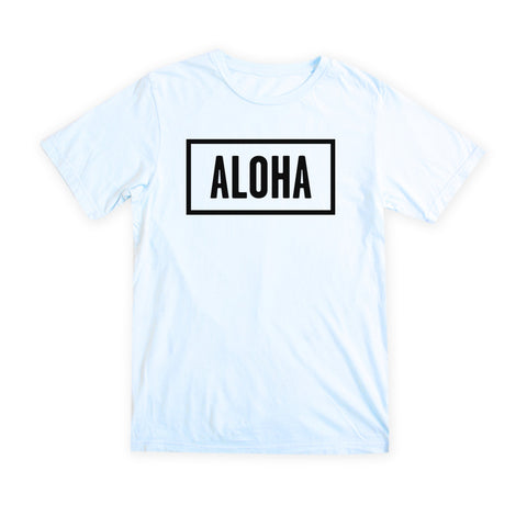 ALOHA SUNDAY BLUE T-SHIRT