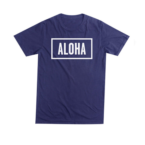 ALOHA SUNDAY NAVY T-SHIRT