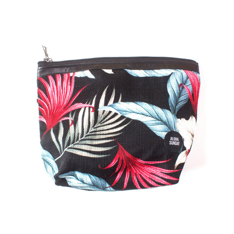 "9.5"" DOPP KIT - BLACK TROPICAL - ALOHA SUNDAY"