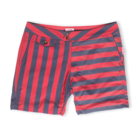 MARLON - NAVY & RED