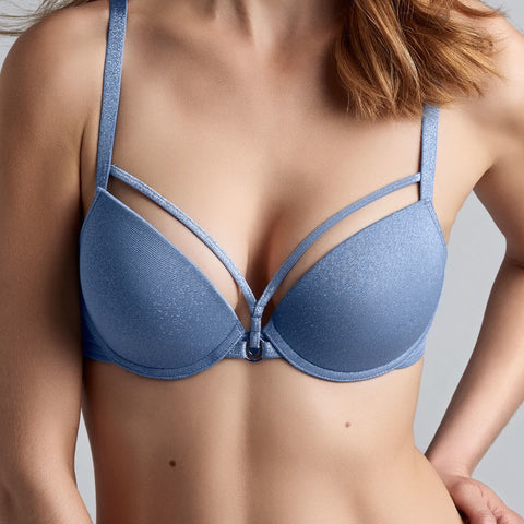 Marlies Dekkers Space Odyssey Sparkling Blue Push Up Plunge Bra