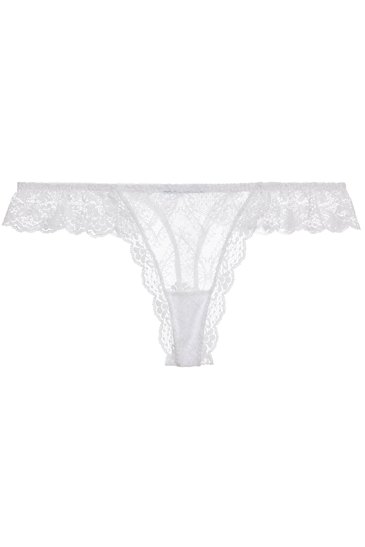 Eberjey Kiss The Bride The Ruffle Thong