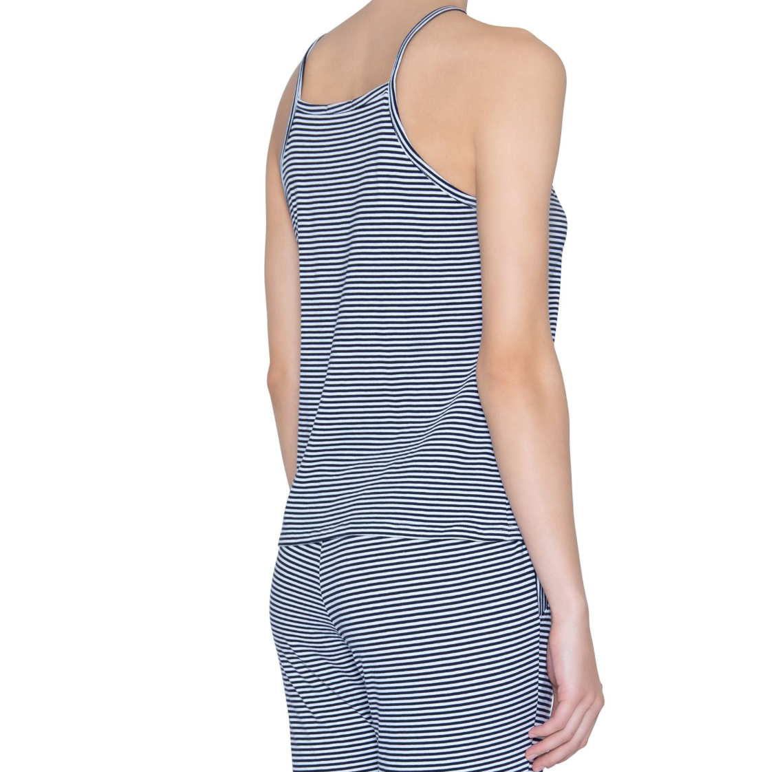 Eberjey Cotton Stripe Halter Tank