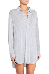 Eberjey Nordic Stripes-The Boyfriend Sleepshirt