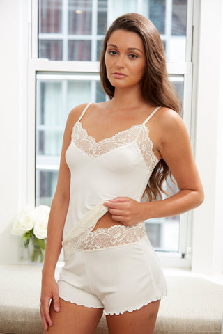 Samantha Chang Home Collection Lace Waist Shortie