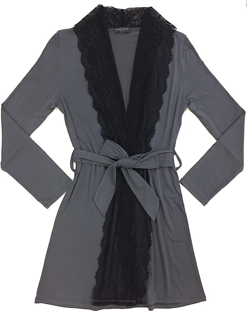 Samantha Chang Lace Front Home Collection Robe