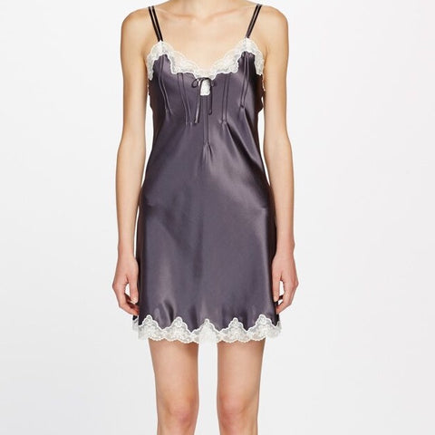 Ginia Silk Chemise with Pintucks