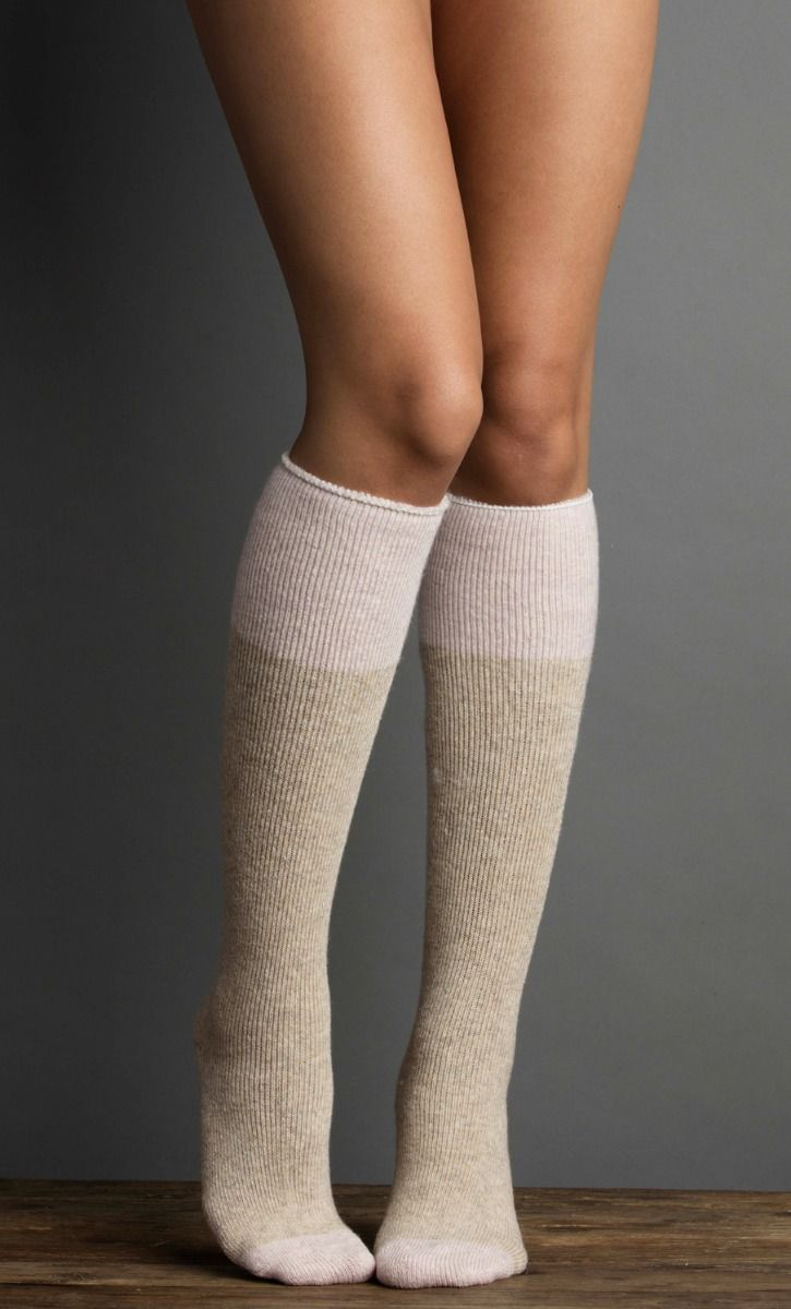 Lemón Terry Colorblock Knee-high Sock