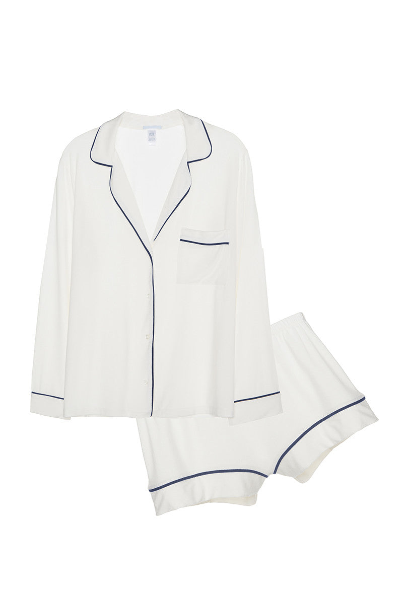 Eberjey Gisele PJ Long Sleeve Short Set - Knickers & Pearls Boutique - 1