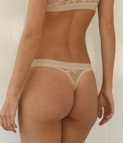 Naked Luxury Lace Thong