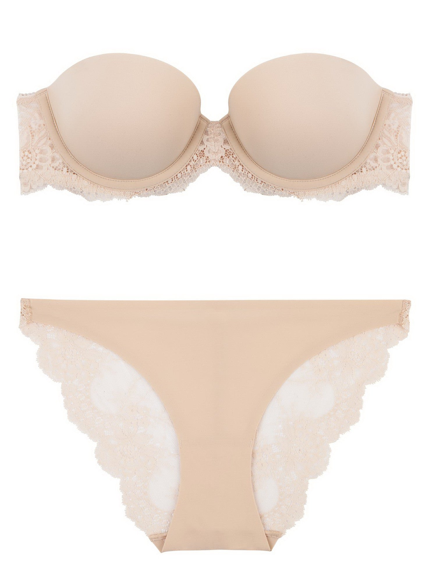 Stella McCartney Lingerie Stella Smooth & Lace Bra-Strapless - Knickers & Pearls Boutique - 1