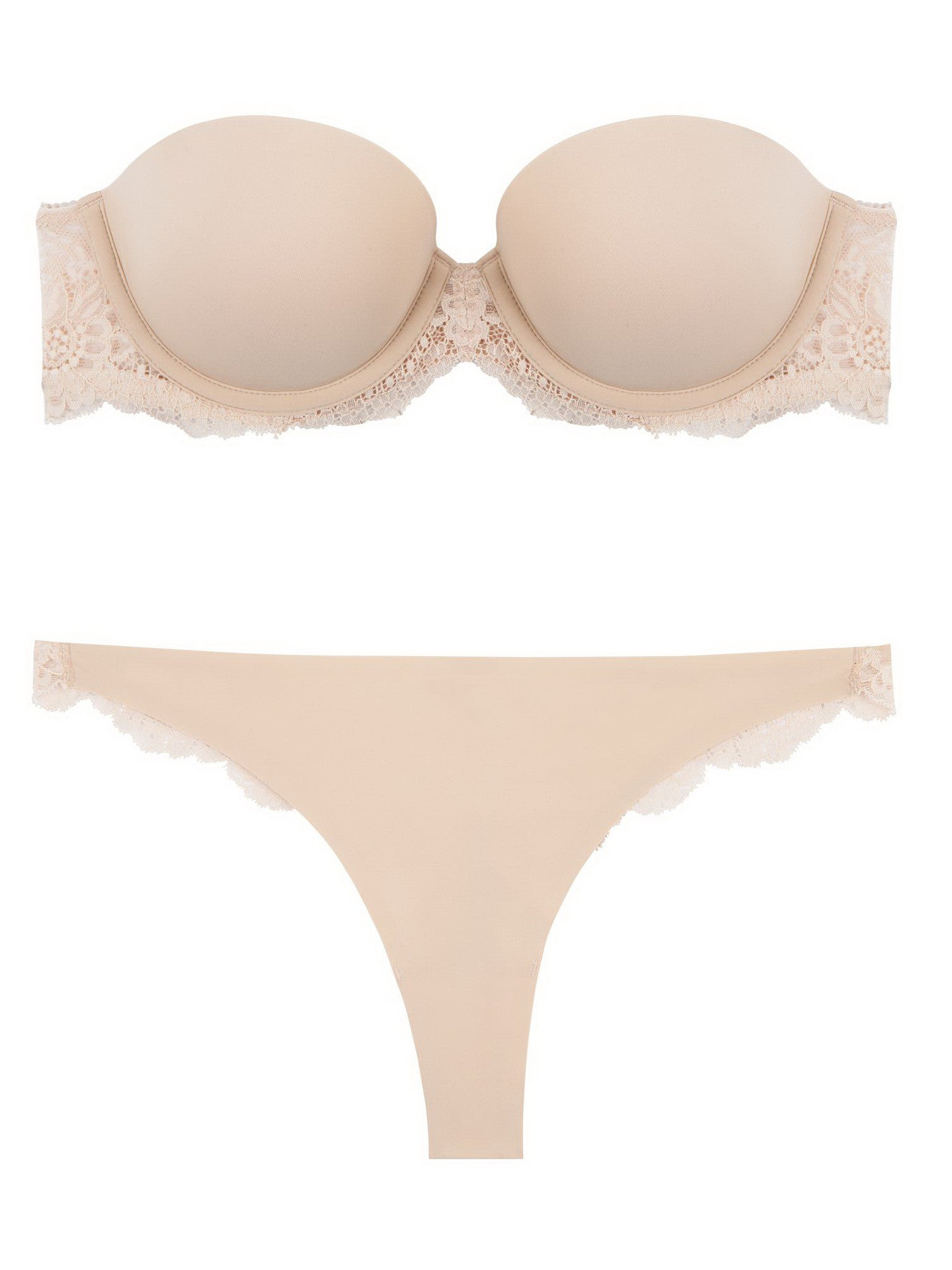 Stella McCartney Lingerie New Stella Smooth & Lace Thong - Knickers & Pearls Boutique - 2