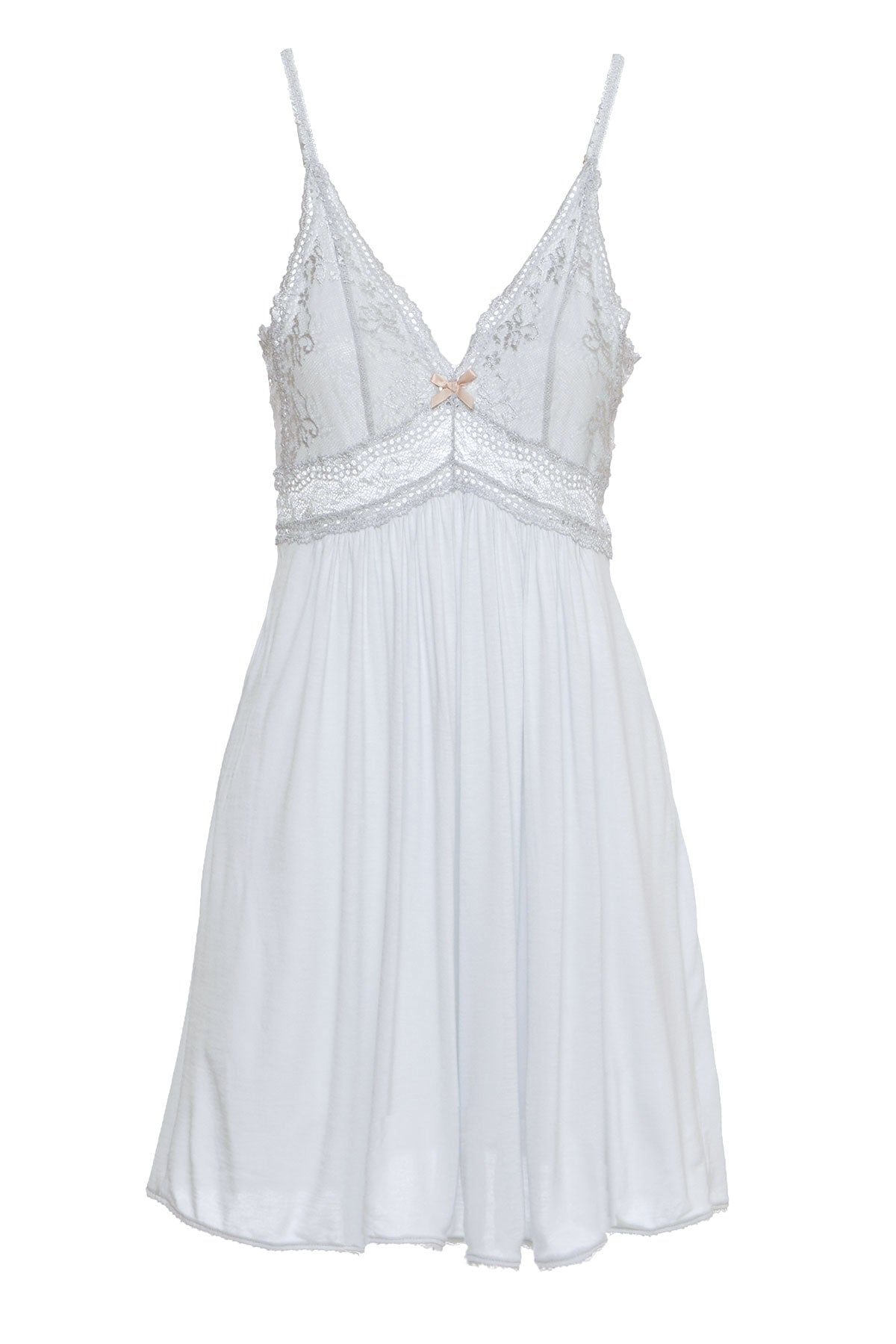 Find this Eberjey Colette chemise in steam blue at Knickers & Pearls Boutique