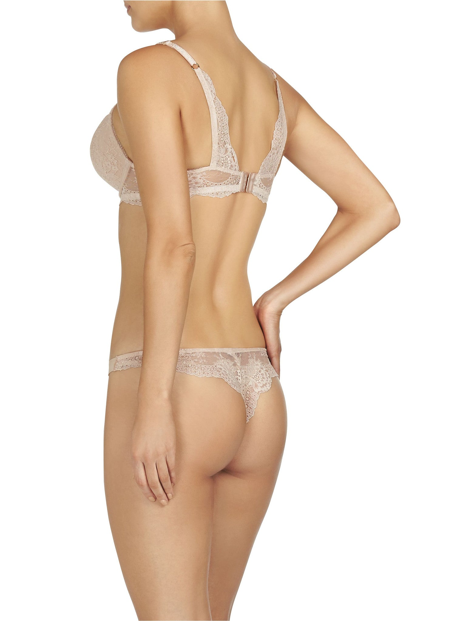 Stella McCartney Lingerie New Stella Smooth & Lace Thong - Knickers & Pearls Boutique - 1