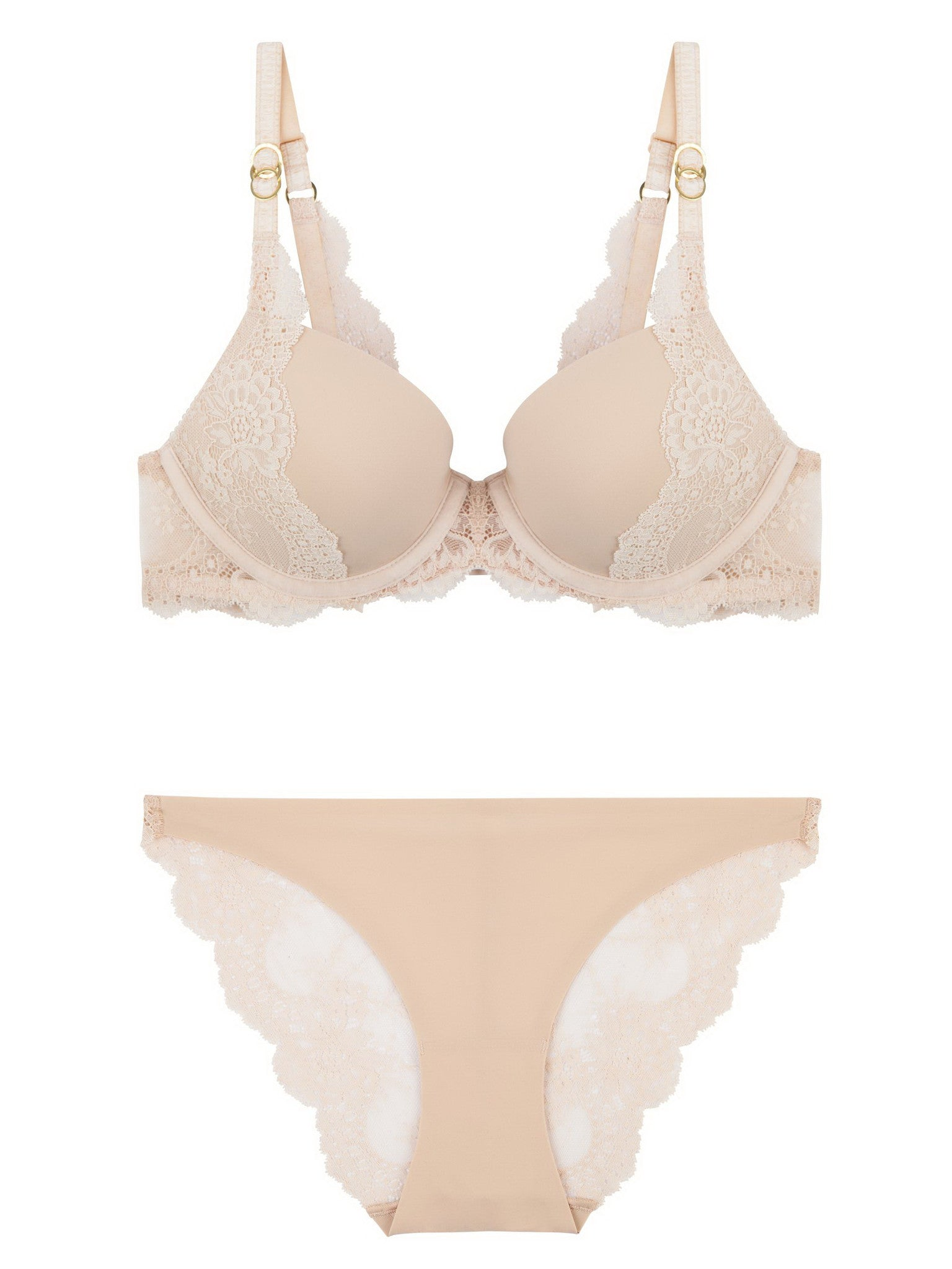 Stella McCartney Lingerie New Stella Smooth & Lace Bra-Contour Plunge - Knickers & Pearls Boutique - 4